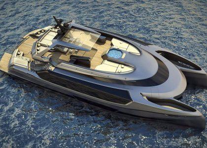 Superyacht catamaran