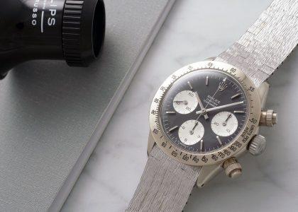 Το σπάνιο λευκόχρυσο Rolex Daytona ετοιμάζεται για δημοπρασία 85f0073308f