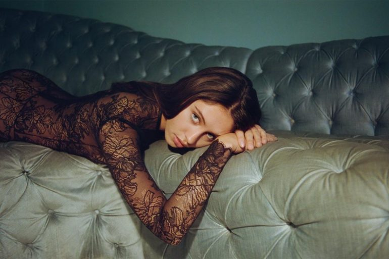 1615234659425234 lofficiel interview Iris Law Shot by Indigo Lewin wearing La Perla 80 s Archive Collection Jumpsuit 2