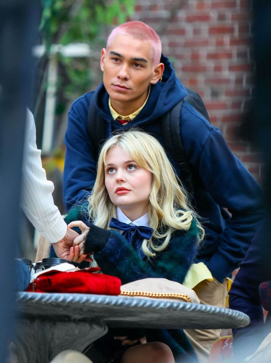 emily alyn lind and evan mock are seen at the film set of news photo 1617037716