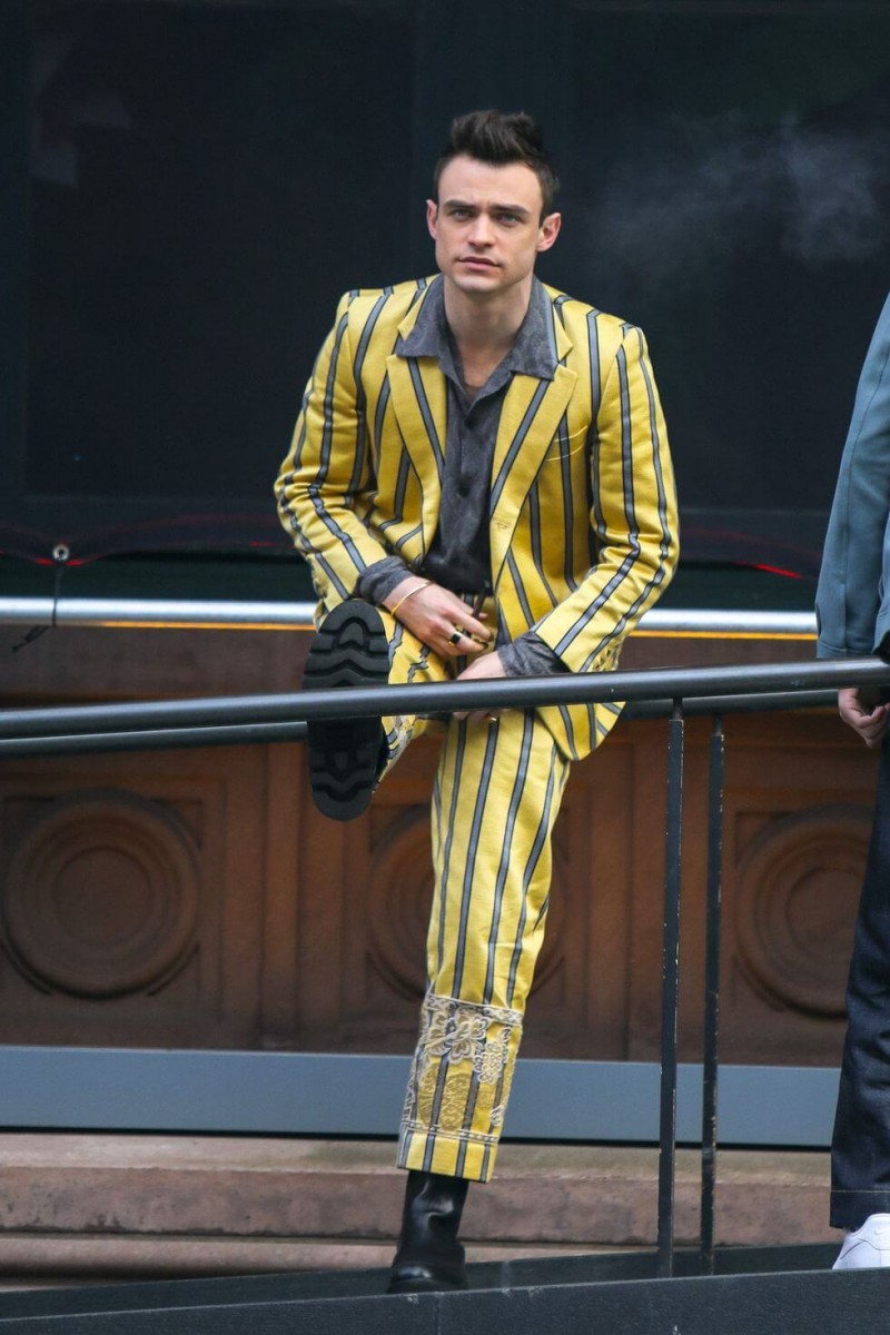 thomas doherty is seen at the film set of the gossip girl news photo 1617035887