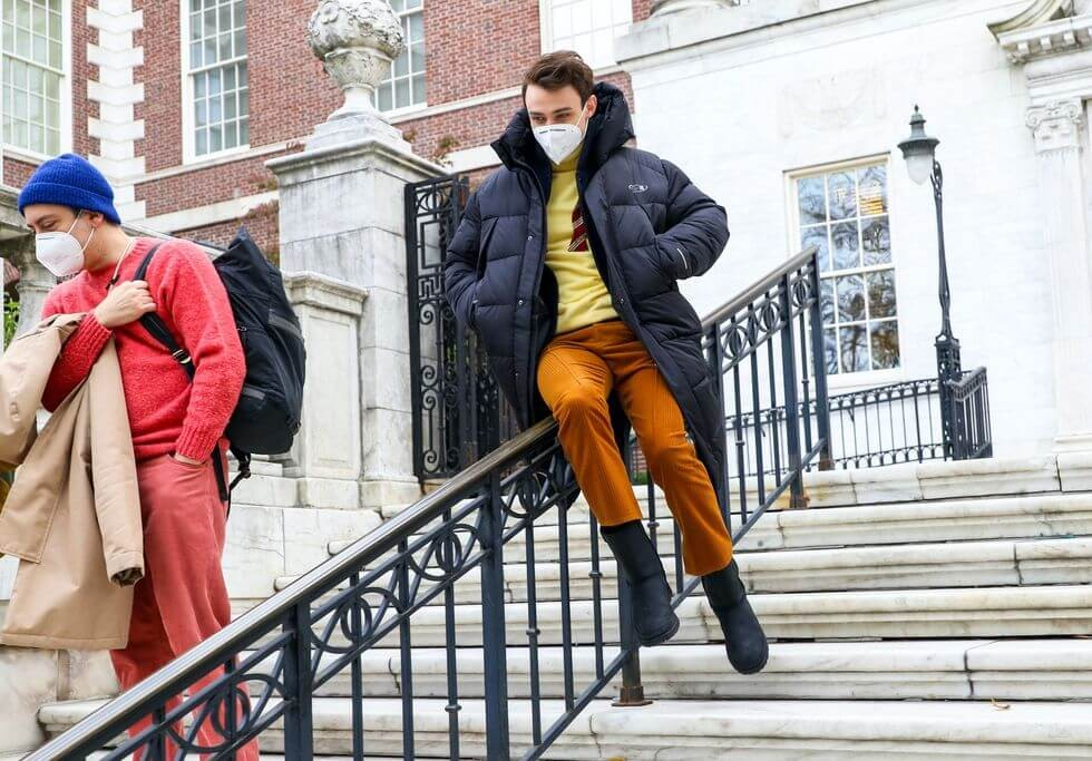 thomas doherty is seen at the film set of the gossip girl news photo 1617036791