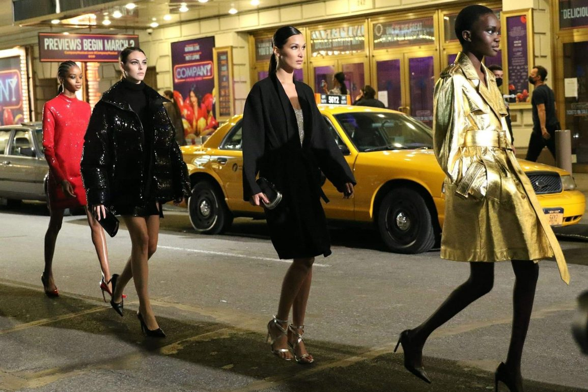 Michael Kors Fashion Show in Time Square