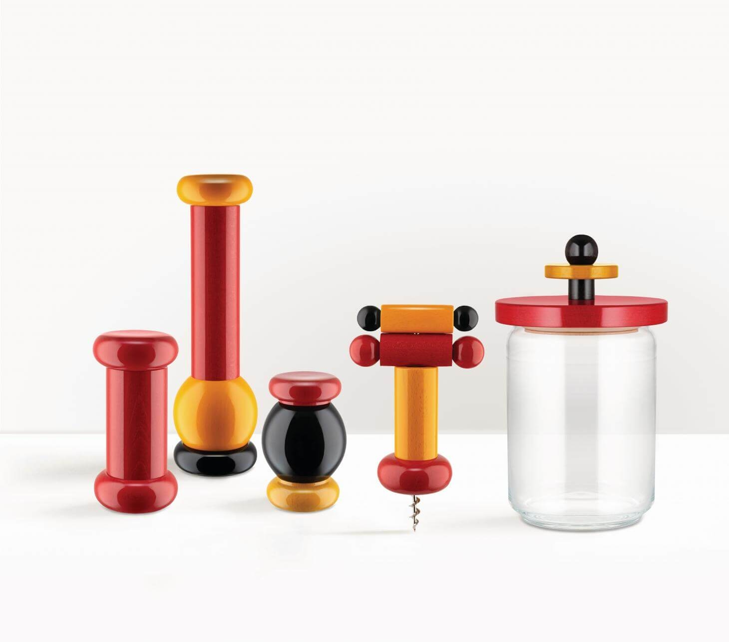 alessi 100 values collection sottsass collection design ettore sottsass groupage red.yellow.black copy