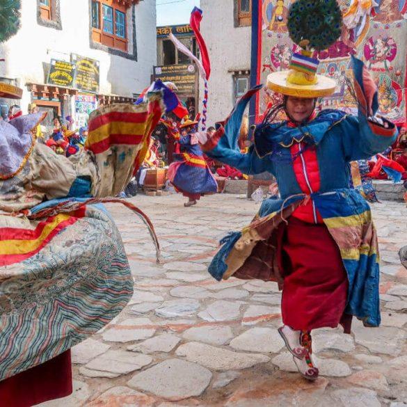 2 slide nepal mustang dancers festival pano