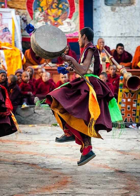 Doug Steakley Nepal Tiji Dancer with drum
