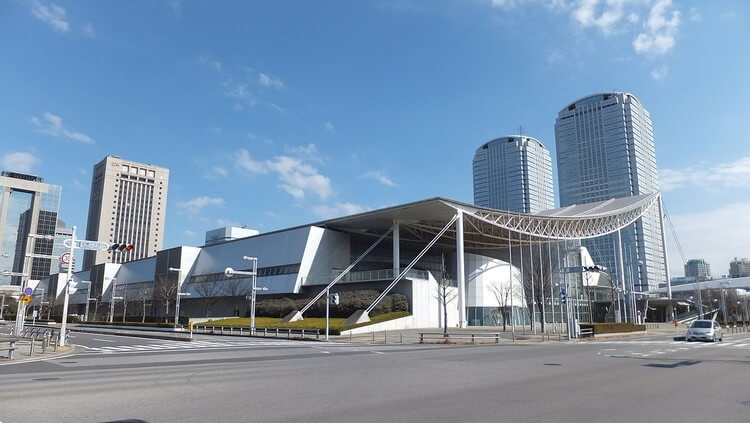 View of Makuhari Messe from Nakase 2 chome crossing