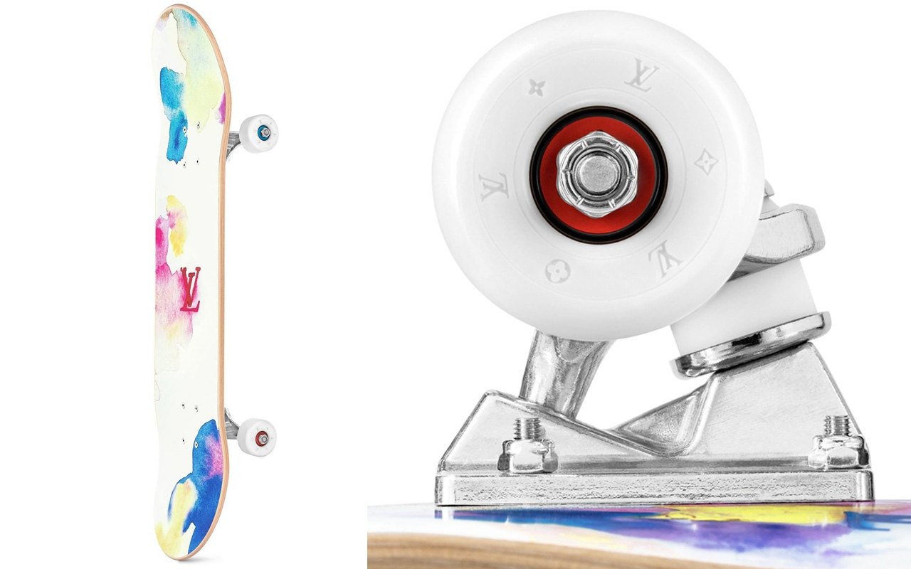 louis vuitton skateboard watercolor pattern img3