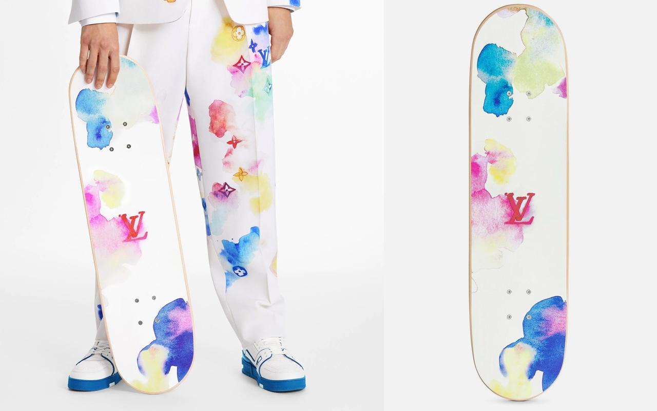 louis vuitton skateboard watercolor pattern img4