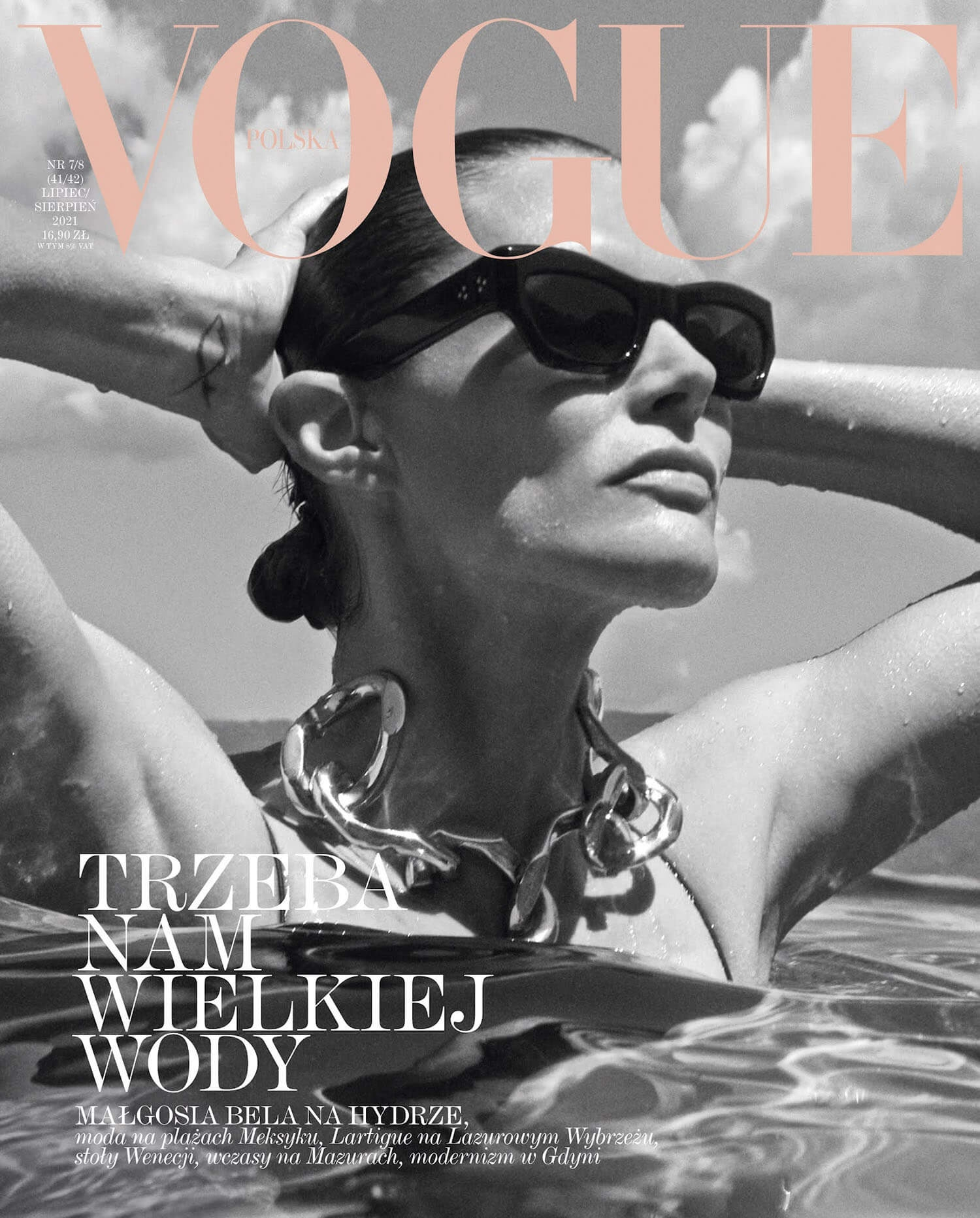 Malgosia Bela covers Vogue Poland July August 2021 by Magda Wunsche Aga Samsel 1