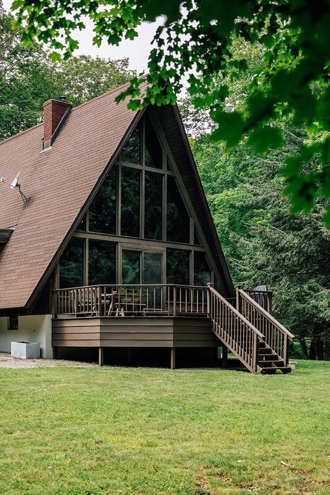 A frame cabin for sale New York Willow Glen Road36
