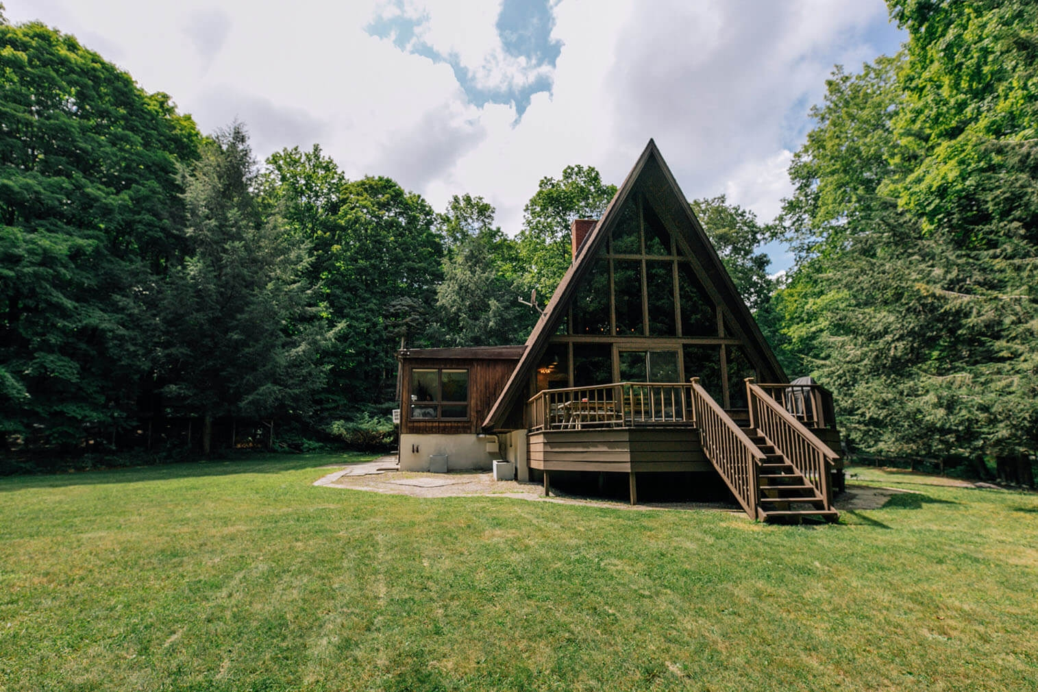 A frame cabin for sale New York Willow Glen Road49