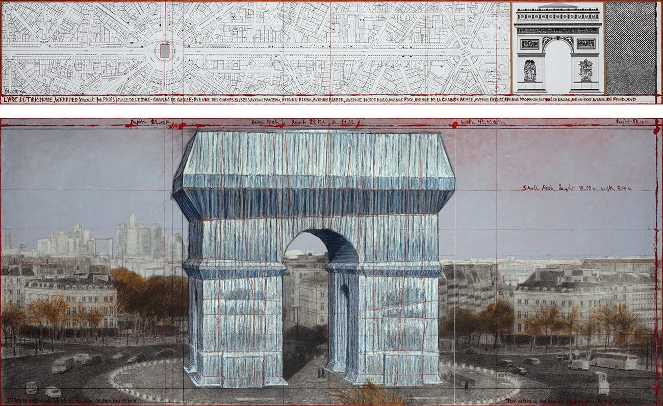 Christo Arc de Triomphe 01