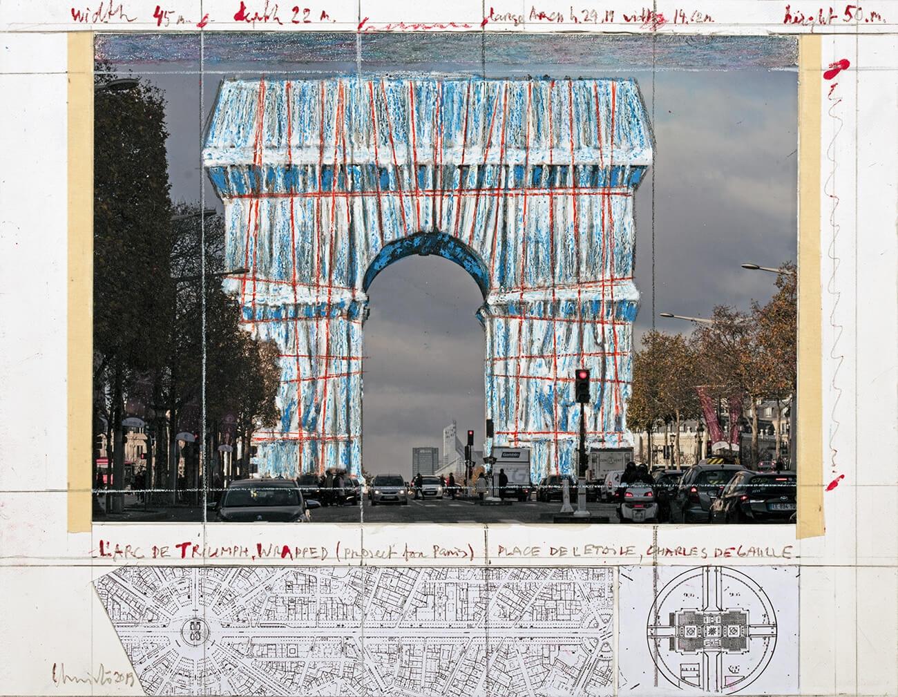 Christo Arc de Triomphe 02