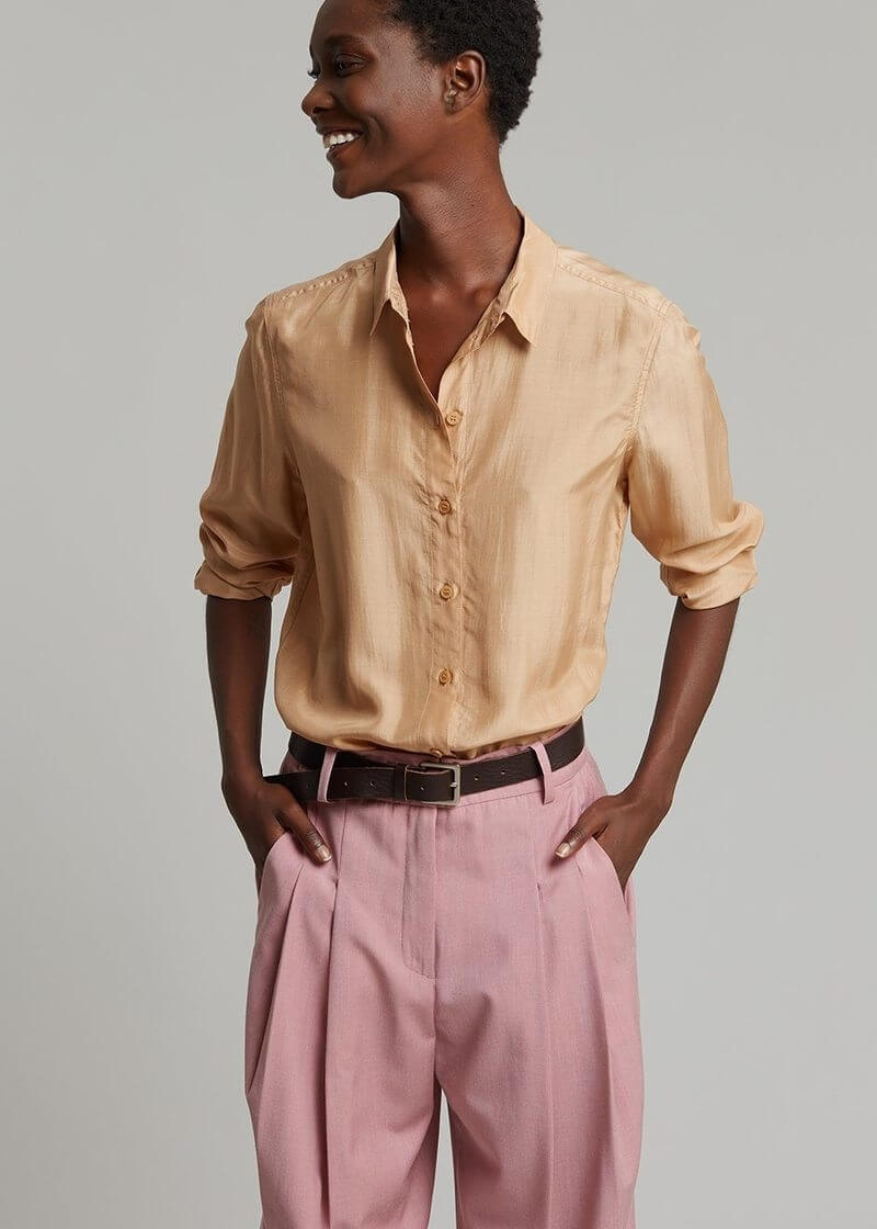 by malene birger cologne shirt sawdust shirt by malene birger 757740 800x
