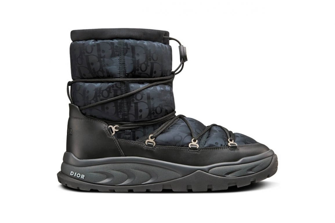 https hypebeast.com image 2021 09 dior snow ankle boot black brown beige oblique nylon winter 2021 kim jones thibo denis 1 1
