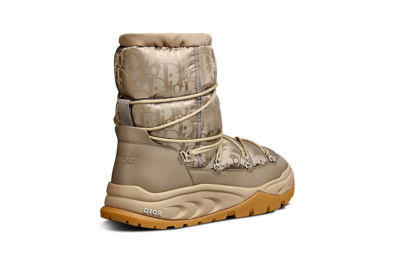 https hypebeast.com image 2021 09 dior snow ankle boot black brown beige oblique nylon winter 2021 kim jones thibo denis 11