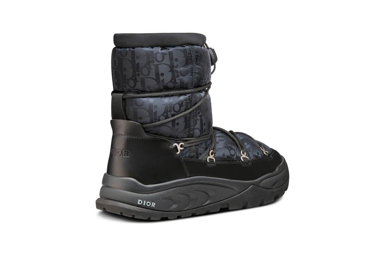 https hypebeast.com image 2021 09 dior snow ankle boot black brown beige oblique nylon winter 2021 kim jones thibo denis 3