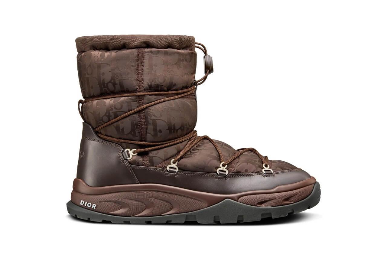 https hypebeast.com image 2021 09 dior snow ankle boot black brown beige oblique nylon winter 2021 kim jones thibo denis 5