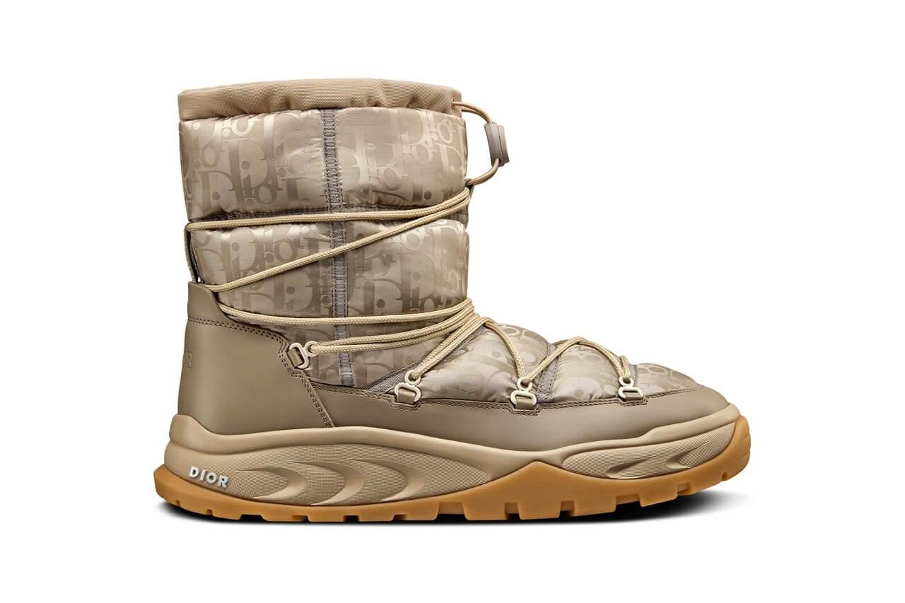 https hypebeast.com image 2021 09 dior snow ankle boot black brown beige oblique nylon winter 2021 kim jones thibo denis 9