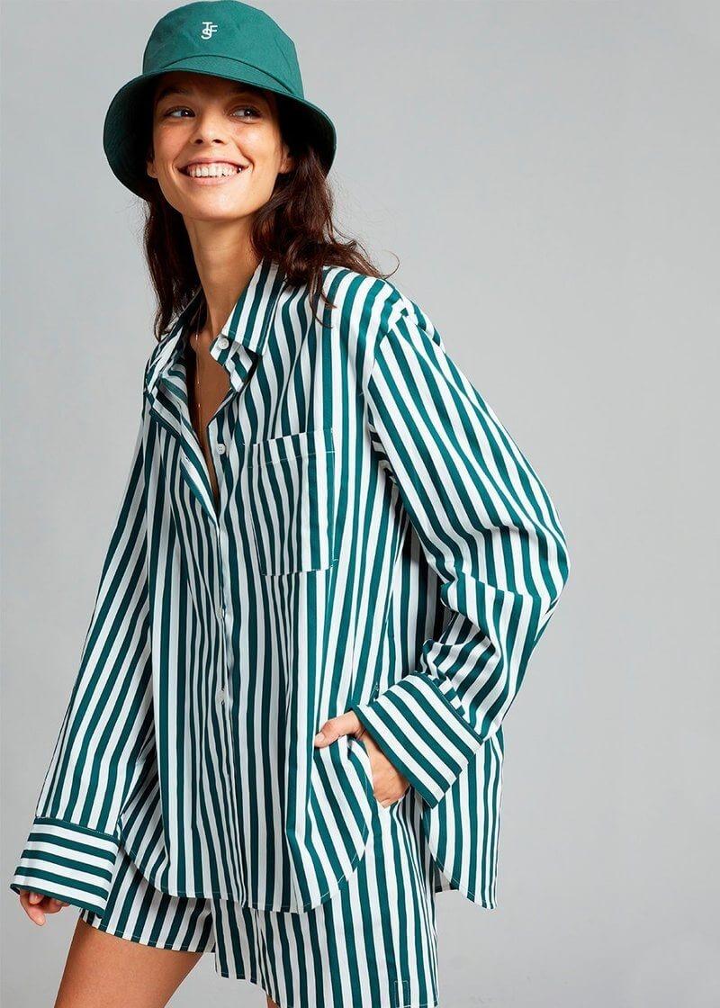 lui organic cotton shirt pine stripe shirt the frankie shop 605409 800x