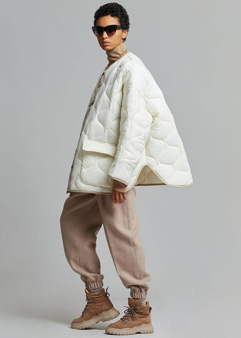 teddy quilted jacket ivoryclay jacket the frankie shop 236274 800x